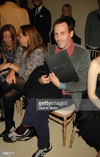 Marlon Richards attends the Marc Jacobs fashion show during London Fashion Week at Claridges on February 16 2007 in London England