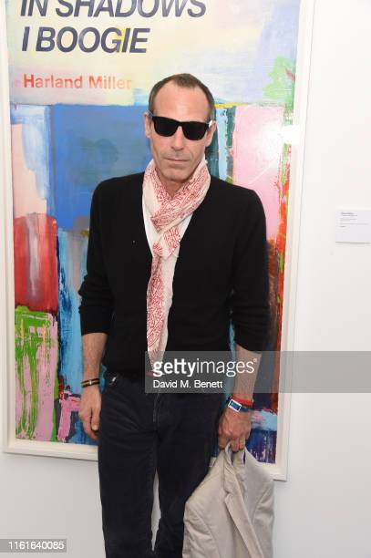 Marlon Richards attends the Teen Cancer America Suite at Bob Dylan and Neil Young in Hyde Park on July 12 2019 in London England