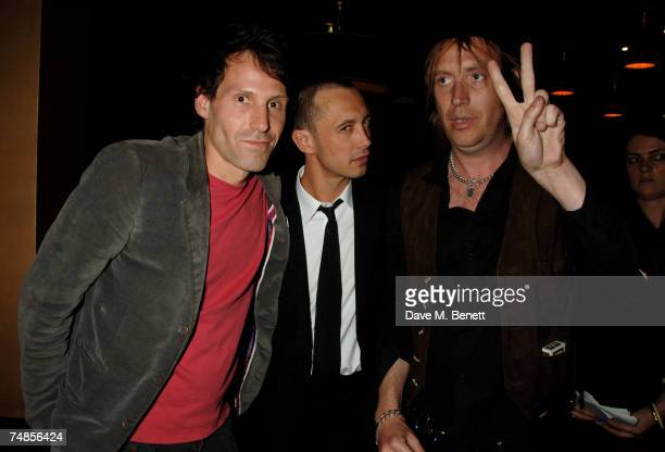 Marlon Richards Dan Macmillan and Rhys Ifans attend the Hoping Foundation Benefit Evening hosted by Bella Freud in aid of the HOPING foundation at...