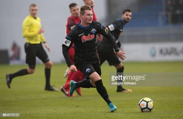 Marlon Ritter of Paderborn drives the ball during the 3 Liga match between SV Wehen Wiesbaden and SC Paderborn 07 at Brita Arena on December 2 2017...