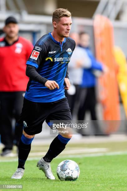 Marlon Ritter of SC Paderborn 07 controls the ball during the preseason friendly match between SC Paderborn 07 and Lazio Rom at Benteler Arena on...