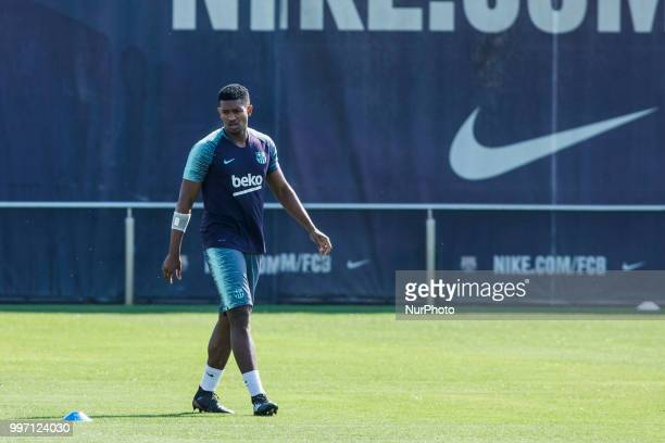Marlon Santos from Brasil during the first FC Barcelona training session of the 2018/2019 La Liga pre season in Ciutat Esportiva Joan Gamper...