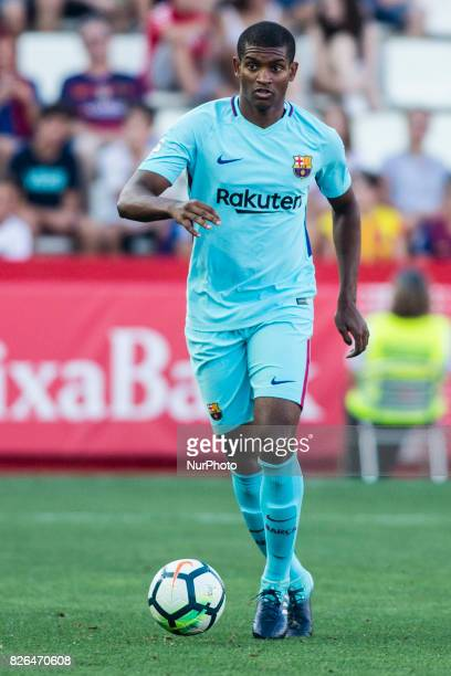 26 Marlon Santos from Spain of FC Barcelona during the friendly match between Nastic vs FC Barcelona at Nou Estadi de Tarragona on August 4th 2017 in...