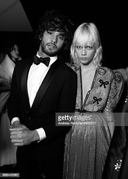 Marlon Teixeira and Marjan Jonkman attend the amfAR Gala Cannes 2017 at Hotel du CapEdenRoc on May 25 2017 in Cap d'Antibes France