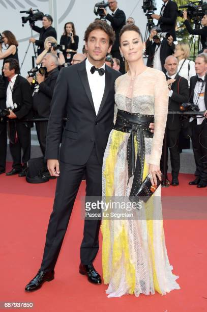 Marlon Texeira and guest attend the 'The Beguiled' screening during the 70th annual Cannes Film Festival at Palais des Festivals on May 24 2017 in...