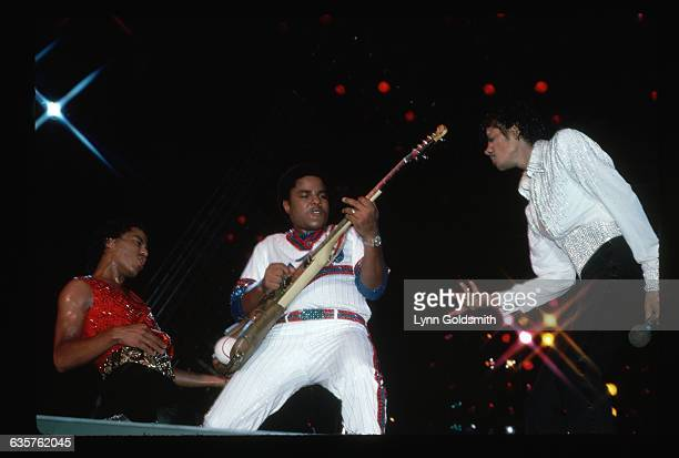 Marlon Tito and Michael Jackson play on the Jacksons' Victory tour