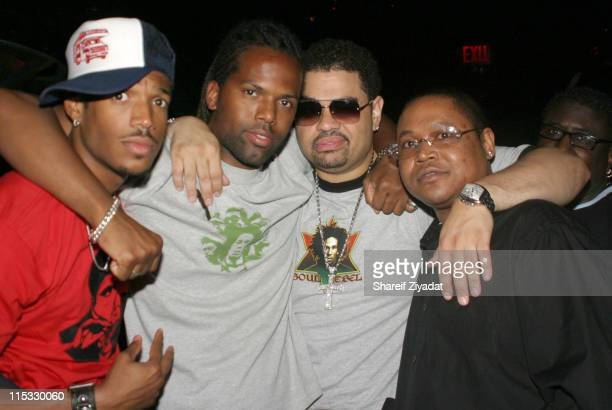 Marlon Wayans AJ Calloway Heavy D and Doe Fat during Heavy D's 37th Birthday Party at Darica in New York City New York United States