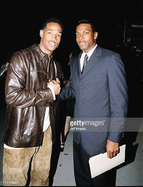 Marlon Wayans and Chris Tucker during 1998 MTV Movie Awards in Los Angeles California United States