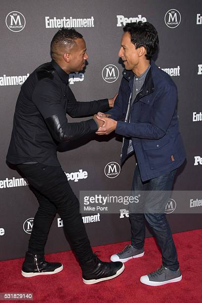 Marlon Wayans and Danny Pudi attend the 2016 Entertainment Weekly People New York Upfront at Cedar Lake on May 16 2016 in New York New York
