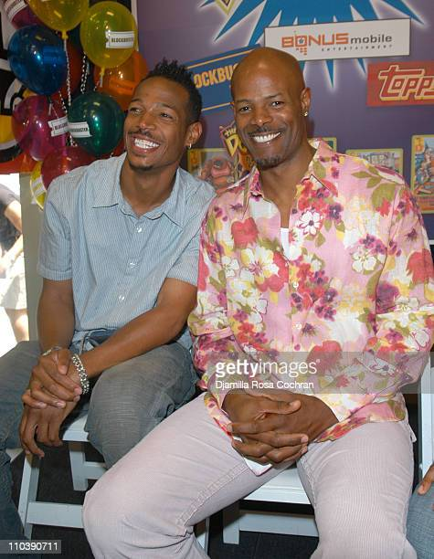 Marlon Wayans and Keenen Ivory Wayans during Keenen Ivory Wayans Shawn Wayans and Marlon Wayans InStore Appearance at BlockBuster in Manhattan June...