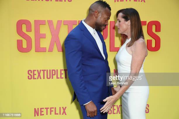 Marlon Wayans and Molly Shannon attend the Premiere Of Netflix's Sextuplets at ArcLight Hollywood on August 07 2019 in Hollywood California