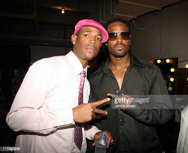 Marlon Wayans and Shawn Wayans during 6th Annual BET Awards Inside at Shrine Audatorium in Hollywood California United States