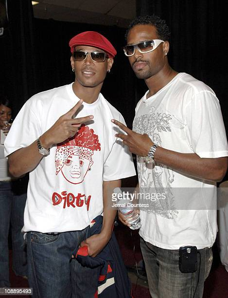Marlon Wayans and Shawn Wayans during 6th Annual BET Awards Radio Remote Room Day 1 at Shrine Auditorium in Los Angeles CA United States