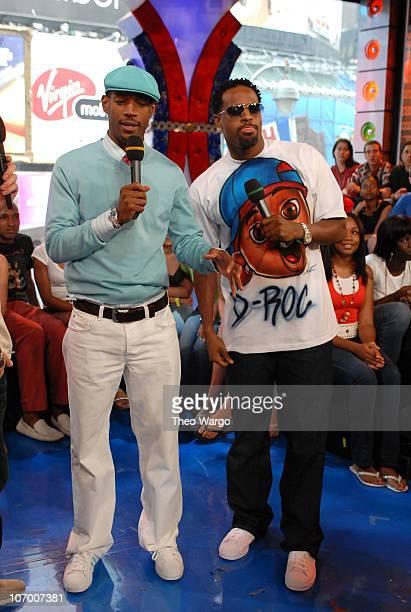 Marlon Wayans and Shawn Wayans during Beyonce Kate Hudson Owen Wilson Shawn Wayans and Marlon Wayans Visit MTV's TRL July 12 2006 at MTV Studios in...