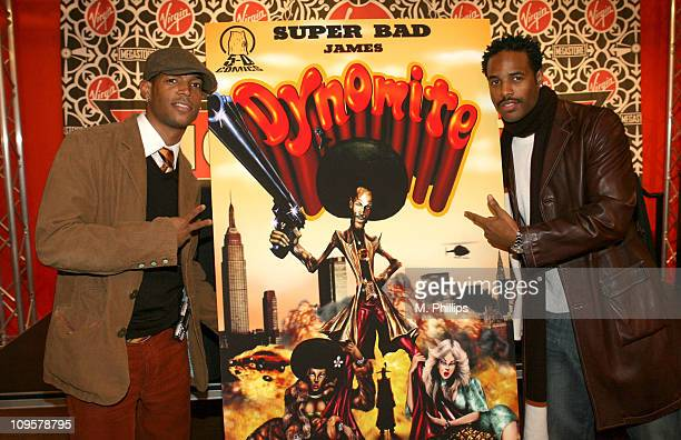 Marlon Wayans and Shawn Wayans during Super Bad James Dynomite Comic Book Signing with Marlon and Shawn Wayans in Los Angeles California United States