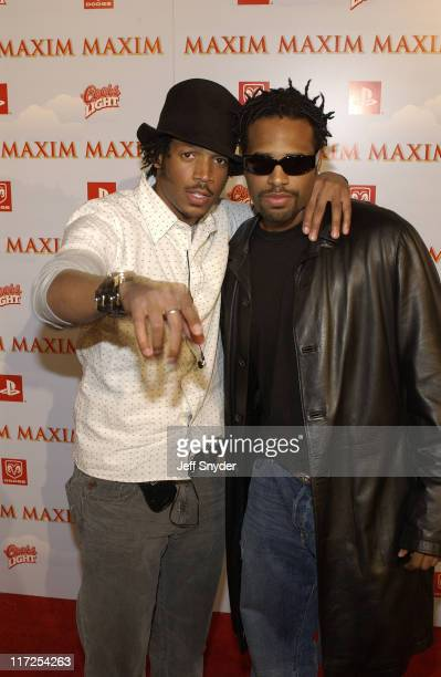 Marlon Wayans and Shawn Wayans during The Maxim Party at Super Bowl XXXVII at The Old Wonderbread Factory in San Diego CA