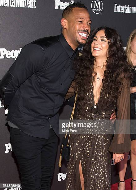 Marlon Wayans and Vanessa Hudgens attend the 2016 Entertainment Weekly People New York Upfront at Cedar Lake on May 16 2016 in New York New York
