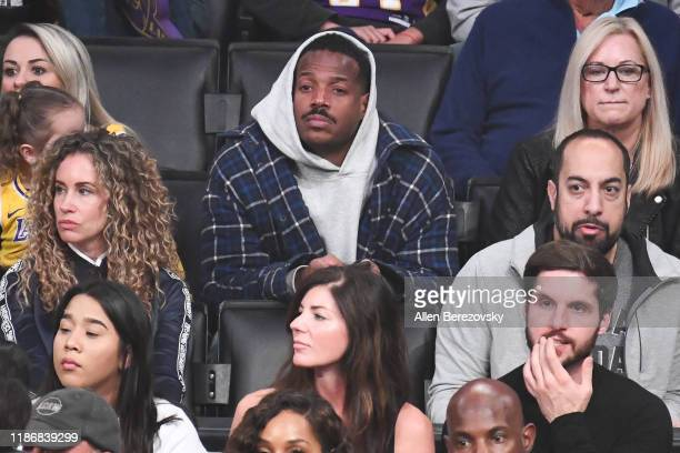 Marlon Wayans attends a basketball game between the Los Angeles Lakers and the Toronto Raptors at Staples Center on November 10 2019 in Los Angeles...