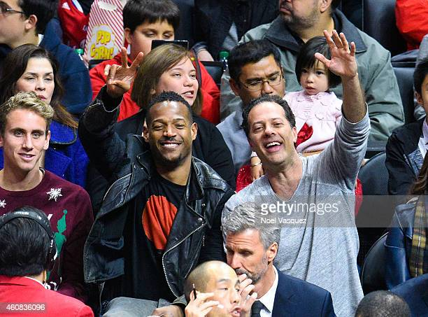 Marlon Wayans attends a basketball game on Christmas between the Golden State Warriors and the Los Angeles Clippers at Staples Center on December 25,...