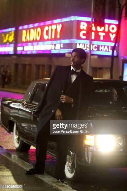 Marlon Wayans is seen on the set of the Respect on November 08 2019 in New York City