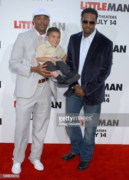 Marlon Wayans Linden Porco and Shawn Wayans during Little Man Los Angeles Premiere Arrivals at Mann National Theatre in Westwood California United...