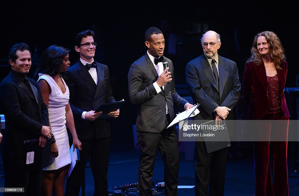 Marlon Wayans (C) speaks onstage with John Leguizamo, Taraji P. Henson, Matt Bomer, Richard Schiff, and Melissa Leo at The Creative Coalition's 2013 Inaugural Ball at the Harman Center for the Arts on January 21, 2013 in Washington, United States.