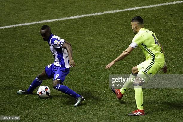 Marlos Moreno of Deportivo de La Coruña controls the ball during the spanish Copa del Rey match between Real Club Deportivo de La Coruña vs Real...