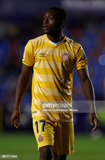 Marlos Moreno of Girona looks on during the Copa del Rey Round of 32 Second Leg match between Levante and Girona at Ciudad de Valencia Stadium on...