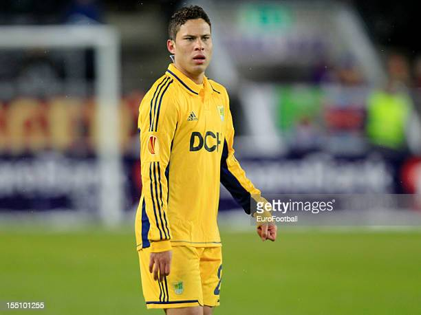 Marlos of FC Metalist Kharkiv in action during the UEFA Europa League group stage match between Rosenborg BK and FC Metalist Kharkiv held on October...
