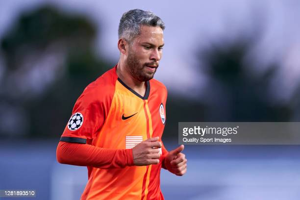 Marlos of Shakhtar Donetsk looks on during the UEFA Champions League Group B stage match between Real Madrid and Shakhtar Donetsk at Estadio Alfredo...