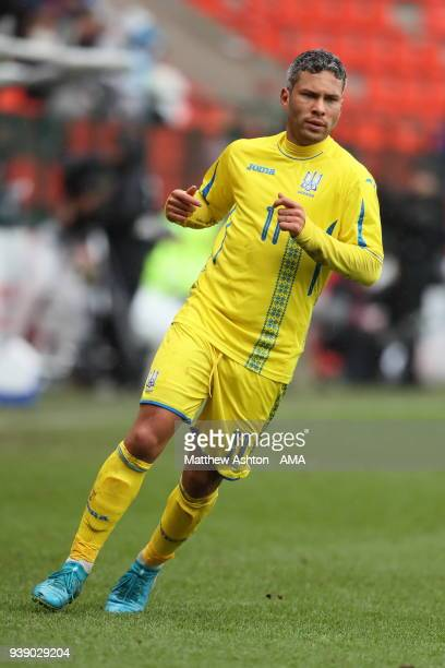 Marlos of Ukraine during the International Friendly between Japan and Ukraine at Stade Maurice Dufrasne on March 27 2018 in Liege Belgium
