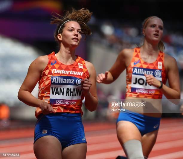 Marlou van Rhijn compete in Women's 100m T44 Heat 2 during IPC World Para Athletics Championships at London Stadium in London on July 17 2017