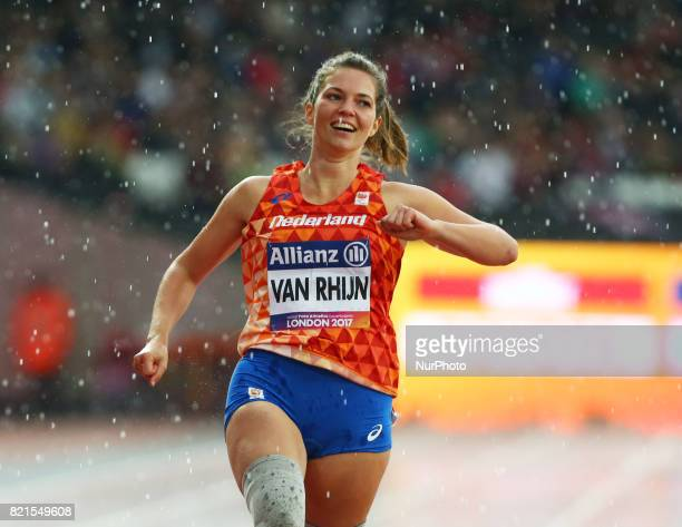 Marlou van Rhijn of Nederland winner of Women's 200m T44 Final during World Para Athletics Championships at London Stadium in London on July 23 2017