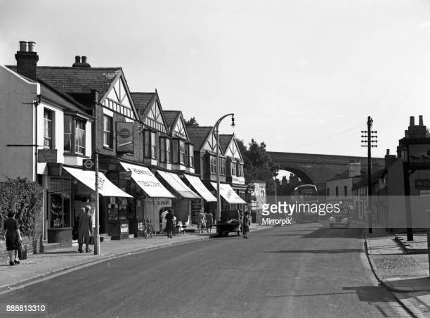 Marlowes street scene in Hemel Hempstead Hertfordshire 12th August 1949