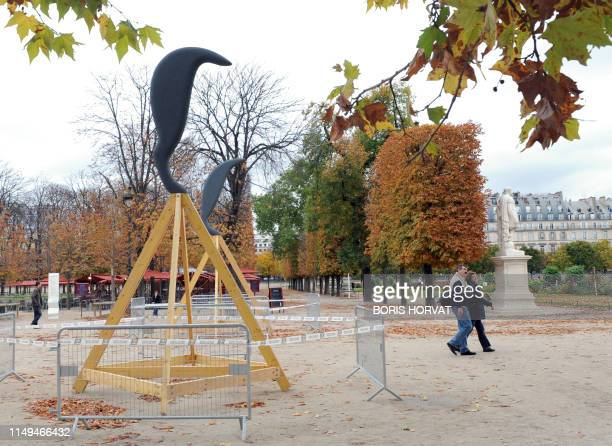"""""""Marlydes"""" a work by Vincent Beaurin is seen on October 16, 2008 at the Tuileries garden in Paris during the preparations of the 35th edition of the..."""