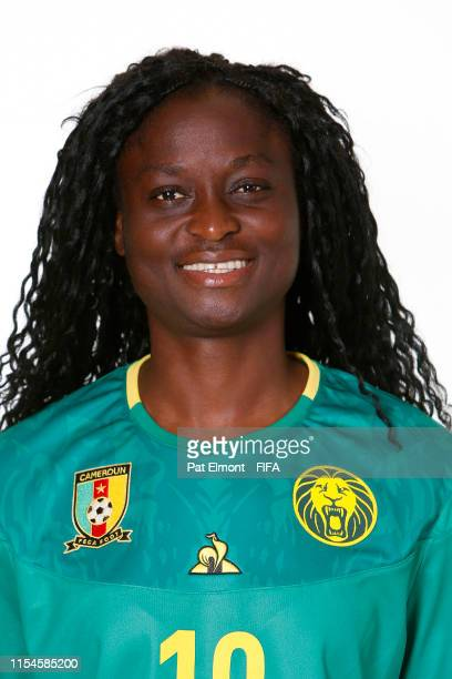Marlyse Ngo Ndoumbouk of Cameroon poses for a portrait during the official FIFA Women's World Cup 2019 portrait session at Crowne Plaza Montpellier...