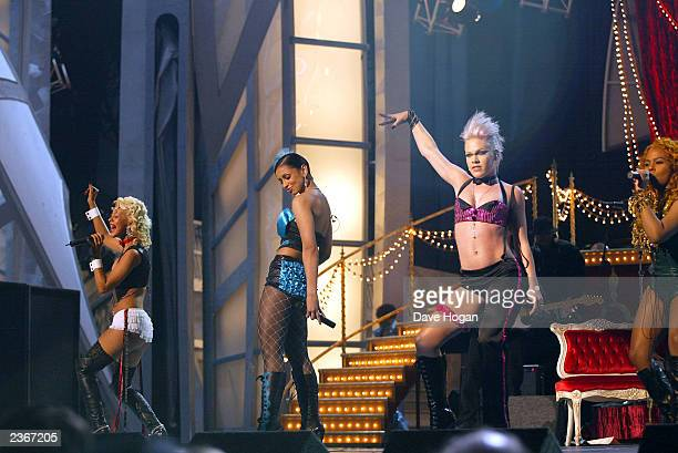 Marmalade Girls perform at the 44th Annual Grammy Awards at the Staples Center in Los Angeles Ca Feb 27 2002
