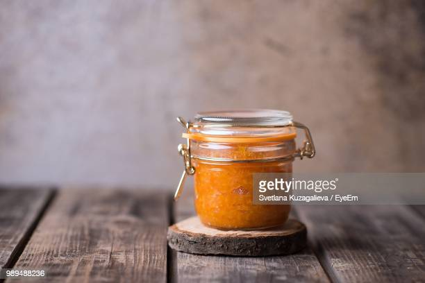 Marmalade In Jar On Table At Home