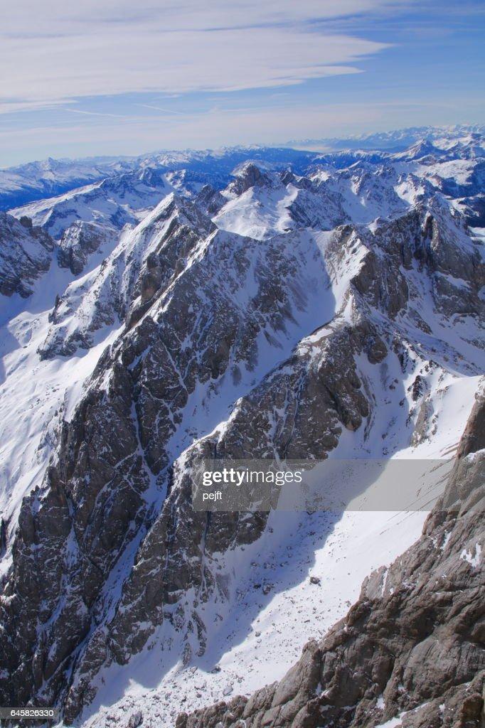 Marmolada glacier the Dolomites Italy : Stock Photo