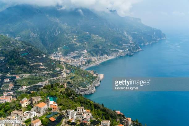 Marmorata, Minori, Maiori in the Amalfi Coast seen from Ravello