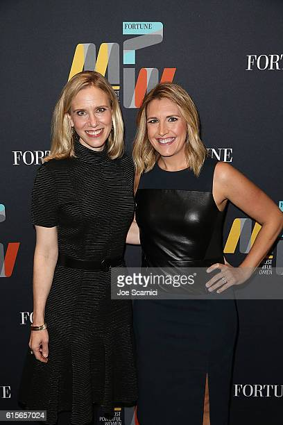 Marne Levine and Poppy Harlow attend the Fortune Most Powerful Women Summit 2016 at RitzCarlton Laguna Niguel on October 19 2016 in Dana Point...