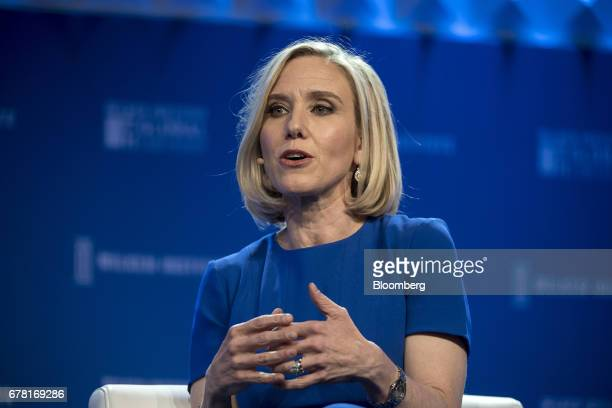 Marne Levine chief operating officer of Instagram Inc speaks at the Milken Institute Global Conference in Beverly Hills California US on Wednesday...