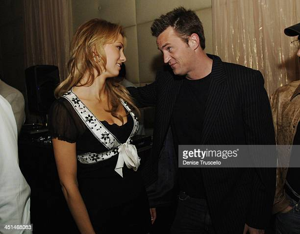 Marnette Patterson and Matthew Perry during Standing Still Release Party Hosted by Grey Goose Vodka Vanity Fair and Insomnia Entertainment at Jet...