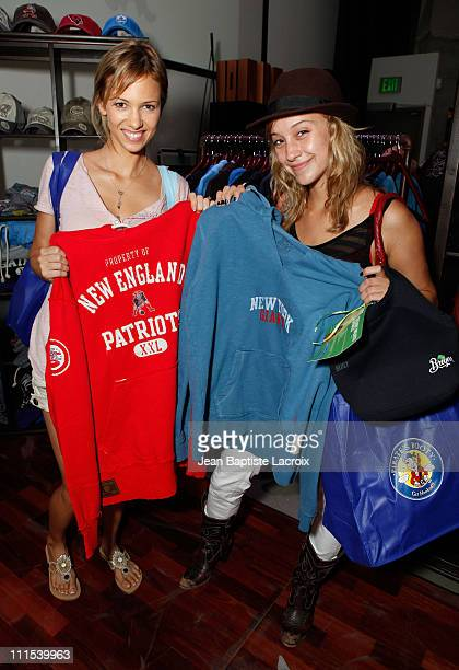 Marnette Patterson and Stella Maeve attend the Retro Sport booth Kari Feinstein Primetime Emmy Awards style lounge at Zune LA on September 18 2009 in...