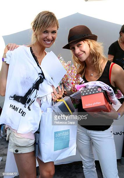 Marnette Patterson and Stella Maeve attends the Kari Feinstein Primetime Emmy Awards style lounge at Zune LA on September 18 2009 in Los Angeles...