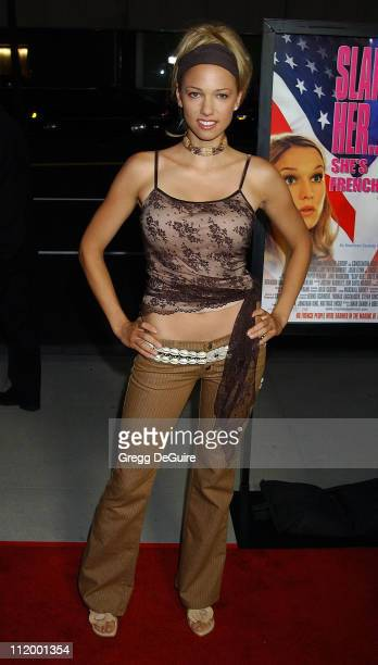 Marnette Patterson during Slap HerShe's French Premiere at Academy Sam Goldwyn Theatre in Beverly Hills California United States