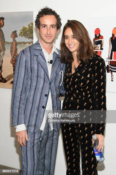 Marni Creative Director Francesco Risso and Chloe Creative Director Natacha RamsayLevi attend Vogue's Forces of Fashion Conference at Milk Studios on...