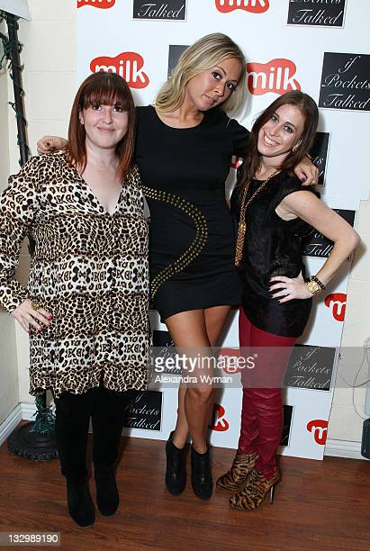 Marni Flans Masha Gordon and Bari Milken Bernstein at If Pockets Talked Pop Up Shop at Milk Boutique on November 15 2011 in Los Angeles California