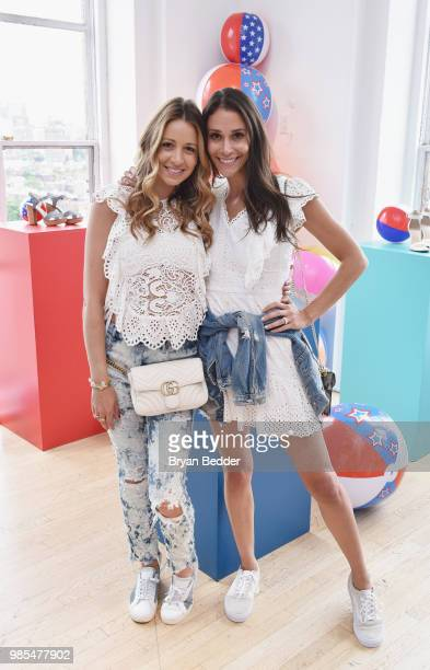 Marni Harvey and Lindsi Lane attend DSW Block Party hosted by Olympians Adam Rippon and Mirai Nagasu on June 27 2018 at Ramscale Studio in New York...