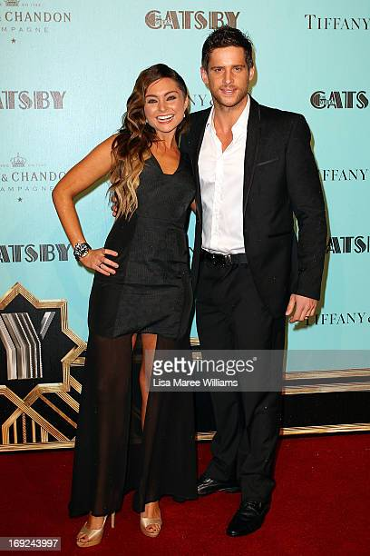 Marnie Little and Dan Ewing attend the 'Great Gatsby' Australian premiere at Moore Park on May 22 2013 in Sydney Australia